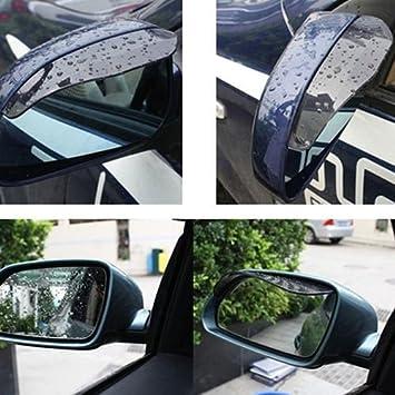 2PCs Car Rear view Side Mirror Rain Board Eyebrow Cover Shield Sun Visor Black
