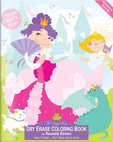 The Piggy Story 'Enchanted Princesses' Reusable Dry Erase Coloring Book