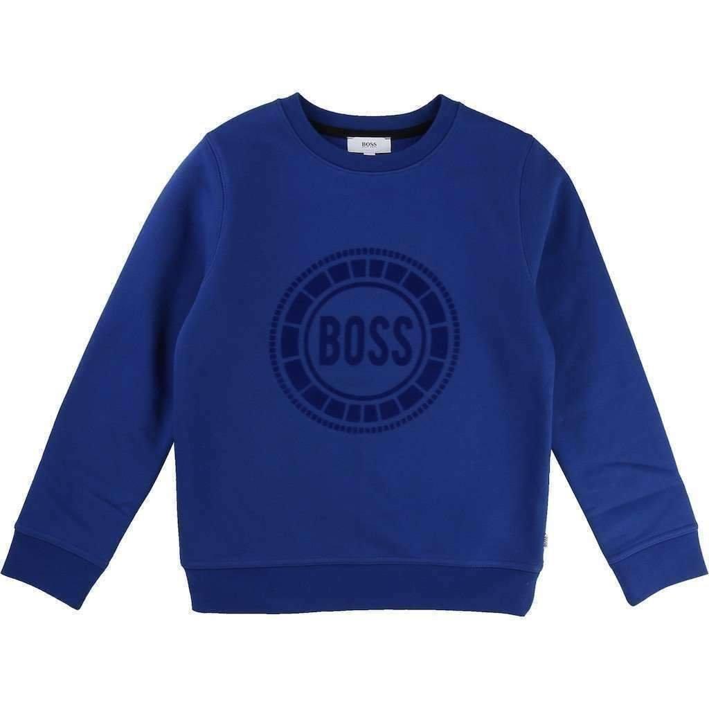 BOSS Blue Fleece Sweatshirt
