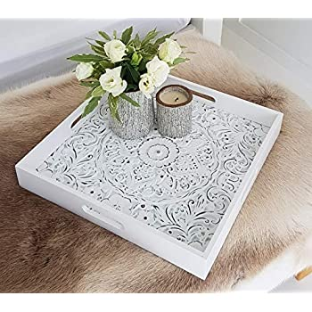Amazon Com Decorative Serving Tray For Ottomans Large
