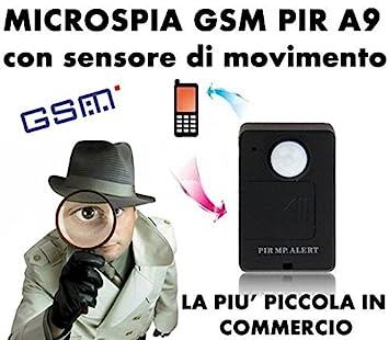 ALARMA GSM SIM PIR DETECTOR DE MOVIMIENTO Y SONIDO A9 MEDIOAMBIENTAL