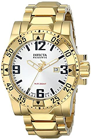 Invicta Men's 6249 Reserve Collection Excursion 18k Gold-Plated Stainless Steel Watch (Invicta Reserve Excursion Gold)
