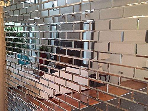 My furniture piastrelle a specchio smussate color argento per il