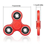 Hand Spinner Tri-Spinner Fidget Toys EDC Hand Finger Spinner Stress Reducer High Speed Anti-Anxiety 360 Ultra Durable Bearing Spinner Toy Desk Toy Relief for ADHD, EDC, Killing Time, Kids, Adult-Red