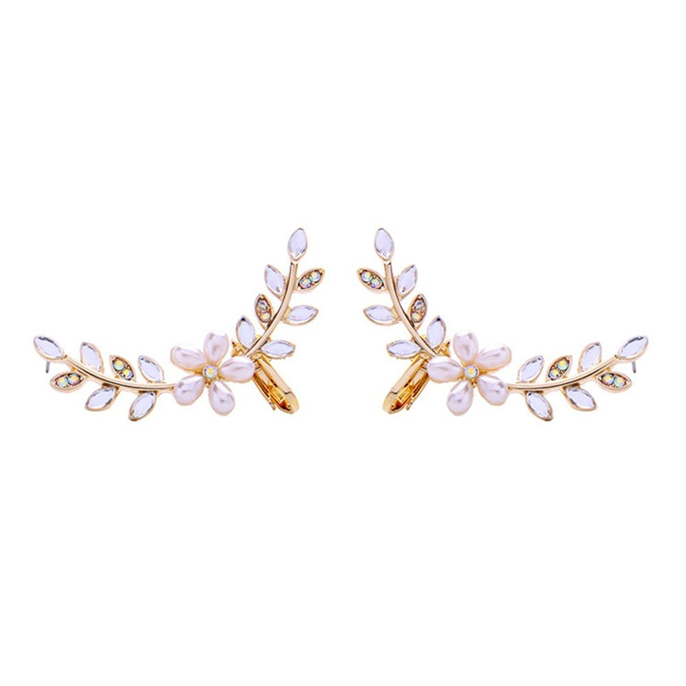 Crystal Size: 5.2Cm Popular Personality Diamond Flower Fresh Pearl SEESUNGM Earrings Jewelry LadyS Temperament