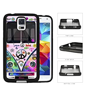 Hippy Mini Van Series V1 Hard Rubber Cell Phone Case Cover Samsung Galaxy S5 I9600 (tie dye peace)