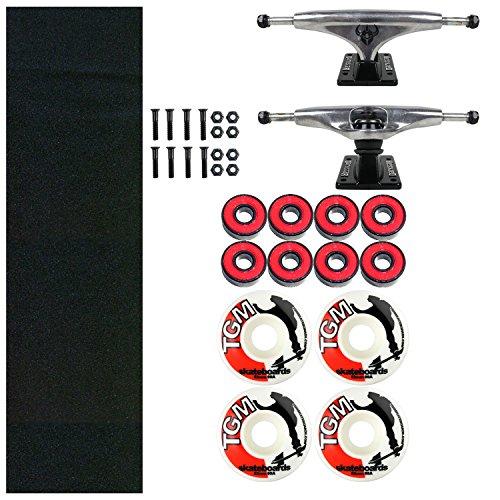 Darkstar Skateboard Kit 5.375 Truck + Griptape, 52mm Wheels and Hardware