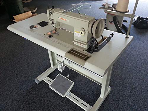 Yamata FY5318 Walking Foot Lockstitch Uphostery Leather Sewing Machine Servo Motor,Table.Assembly Required