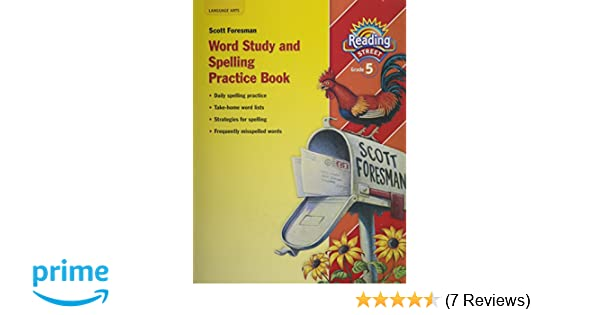 Reading street word study and spelling practice book grade 5 reading street word study and spelling practice book grade 5 scott foresman 9780328146505 amazon books fandeluxe Images