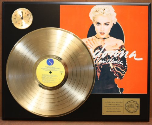 (Madonna Red Album LTD Edition 24Kt Gold LP Record & Clock Display Quality Collectible)