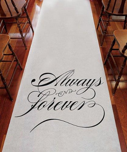 Weddingstar 9300 Always & Forever Wedding Aisle Runner ()