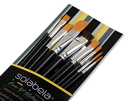 Jakarta Collection (Solabela Artist Brushes. Set of 10 – Jakarta Art Brush Set)