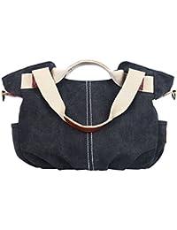 Women's Canvas Shoulder Crossbody Bag Daily Purse Top Handle Tote Hobo Shoulder Bag Casual Shopping Handbag