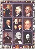 US President stamps for Collectors - 9 mint stamps of American Presidents - Unmounted and unhinged