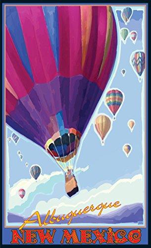 Northwest Art Mall JK-5220 HABP Albuquerque New Mexico Hot Air Balloons Purple 11
