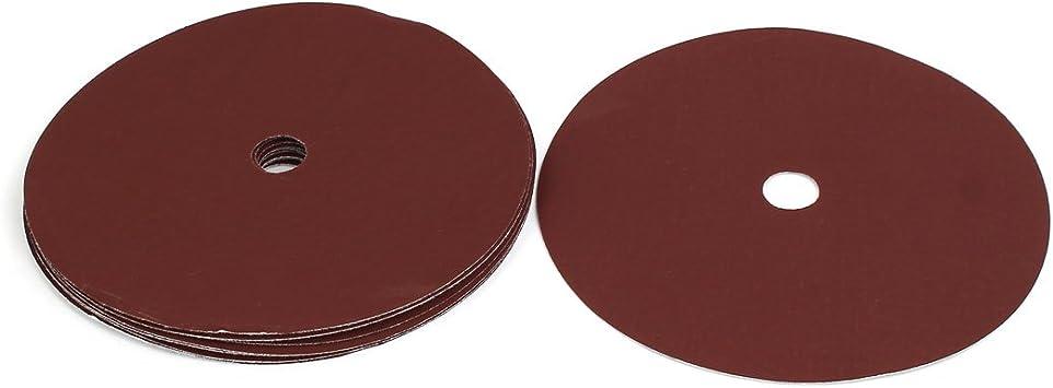 uxcell 60 Grit 8 Hole 7-inch Diameter Sandpaper Hook Loop Sanding Disc 10 Pcs