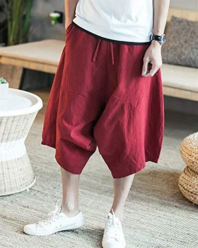 Pantaloncini Casuali Bermuda Rot Coulisse In Con Completo Oversize Estivo 8 7 Da Cargo Tessuto Antivento Uomo Z6xrOZw