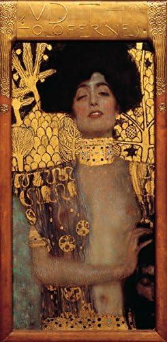 絵画風 壁紙ポスター (はがせるシール式) グスタフ・クリムト ユディト I 1901年 Judith I キャラクロ K-KLT-001S2 (295mm×603mm) 建築用壁紙+耐候性塗料