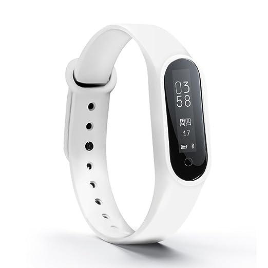 Hombres y mujeres Led smartwatches,30m impermeable Pantalla táctil Digital Sueño Pulsómetro Reloj deportivo Contador de pasos Multifunción Pulsera Niña-B: ...