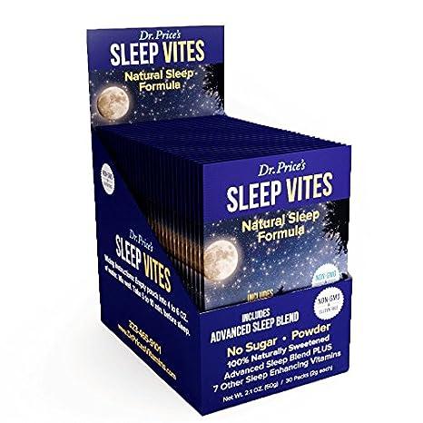 Sleep Vites Natural Sleep Aid Supplement, Melatonin, L-Tryptophan, Magnesium, Taurine...