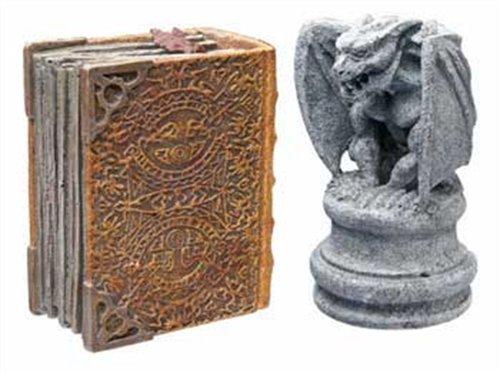 Hydor H2Show Magic World - Gargoyle and Book Decoration Combo Pack ()