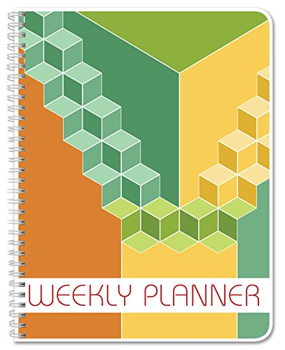BookFactory Blank Weekly Calendar (Works for Any Year - 112 Pages - 8.5