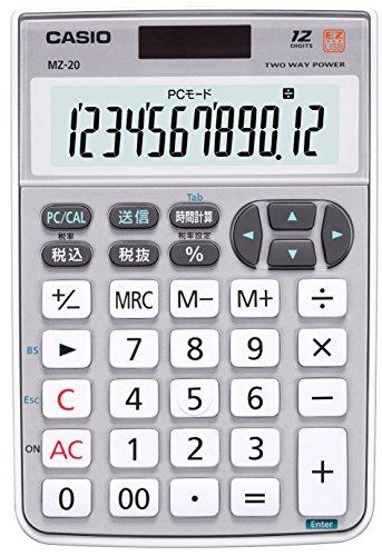 12-digit numeric keypad wired CASIO calculator mini just type MZ-20SR-N (japan import)