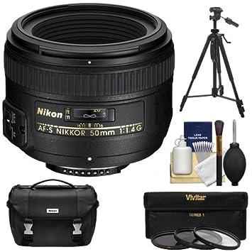 【クリックで詳細表示】Nikon 50?mm f / 1.4g af-s NikkorレンズとNikonケース+ 3?UV / CPL / nd8フィルタ+三脚キット、d3200、d3300、d5300, d5500、d7100、d7200、d750、d810カメラ