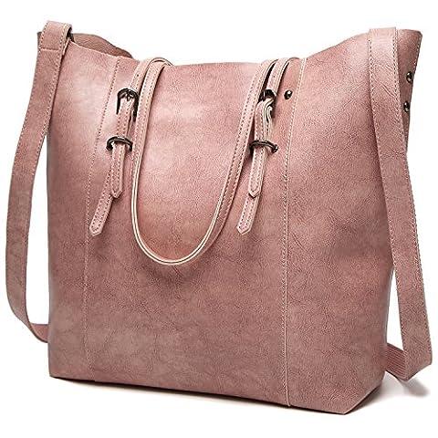 ALARION Purses and Handbags Women Shoulder Handbags Tote Bags Ladies Purses - Pink Laptop Tote