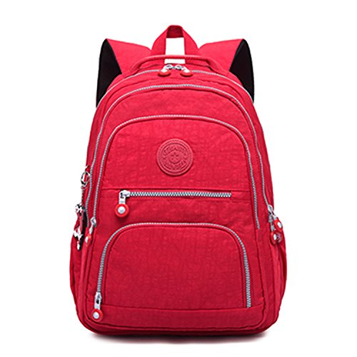 Backpacks Women School Backpack For Teenage Girls Female Laptop Bagpack red 31CMX14CMX42CM 989 ()