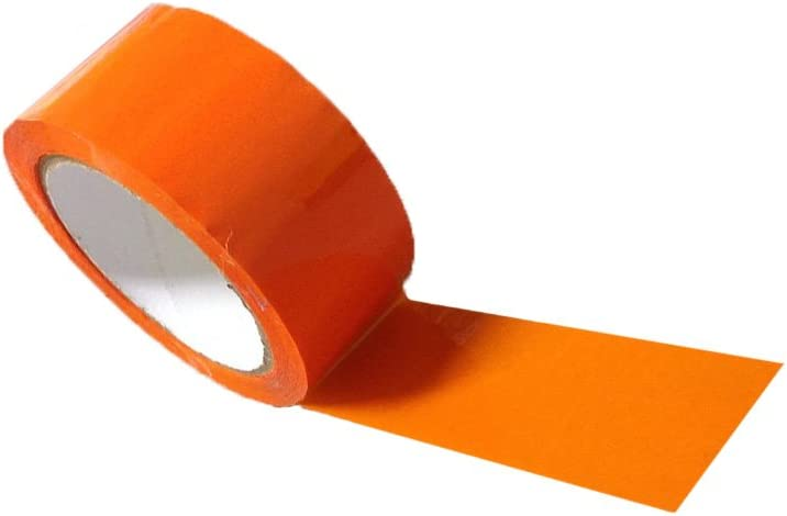 Coloured Adhesive Tape Orange Low Noise /& Works Well in Dispenser Withs 50mmx66m Good Width 1⅞x218 6 x Rolls Versatile Top Quality Vinyl Tape Superior Adhesive Ideal for Carton Sealing /& General Identification Purposes Ideal for Warehouse Use