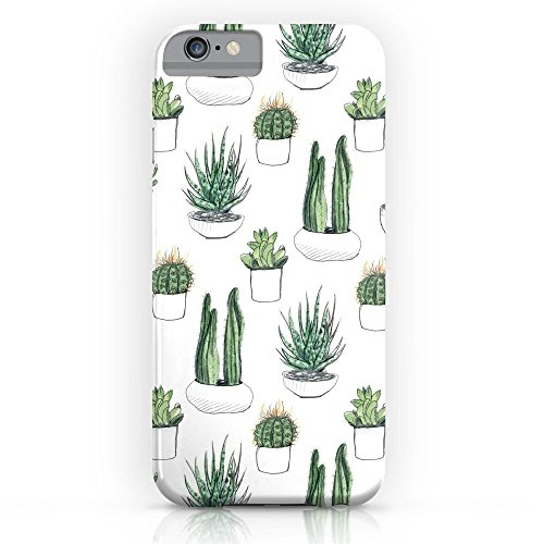 Roses Garden Phone Case Protectivedesign Hard Back Case Watercolour Cacti and Succulent Compatible Slim Case for iPhone ()