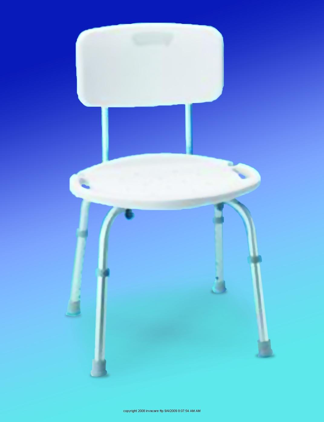 Colorful Carex Adjustable Bath And Shower Seat With Back