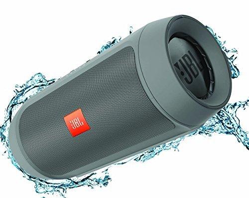 JBL Charge 2+ Splashproof Bluetooth Speaker Grey Color: Grey