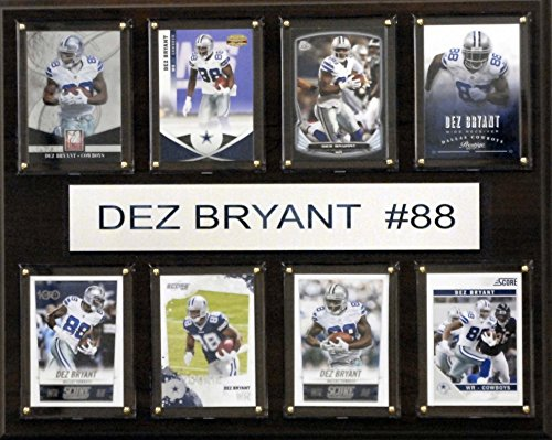 (NFL Dallas Cowboys Dez Bryant 8-Card Plaque, 12 x 15-Inch)
