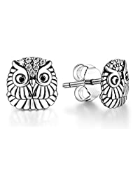 Lovans Owl Stud Earrings Butterfly Earring Swarovski Crystal Dangele Earrings For Women Girls