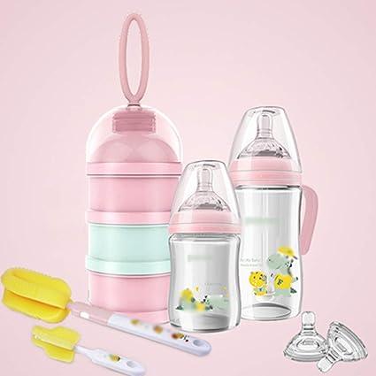 Xianw Biberón De Cristal Natural Recién Nacido, Pajita De Botella ...