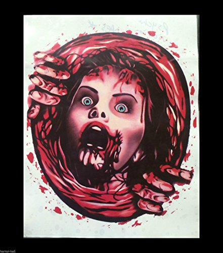 Bloody Horror-PSYCHO VICTIM TOILET COVER STICKER-Halloween Bathroom Decoration]()
