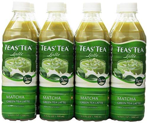 : Teas' Tea Matcha Green Tea Latte, 16.9 Ounce (Pack of 12), Organic, Cane Sugar Sweetened, Fat Free, No Artificial Sweeteners, Antioxidant Rich, High in Vitamin C, Caffeinated
