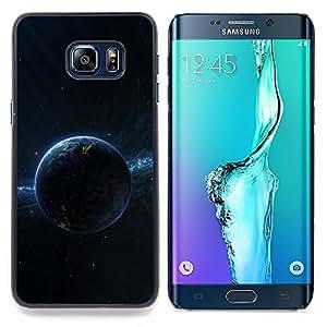 Dark Planet Space Caja protectora de pl??stico duro Dise?¡Àado King Case For Samsung Galaxy S6 Edge Plus