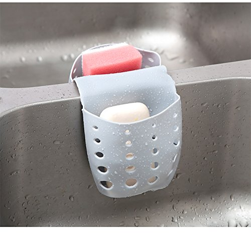 Grocery House Sponge Sink Holder, Hanging Silicone Kitchen G