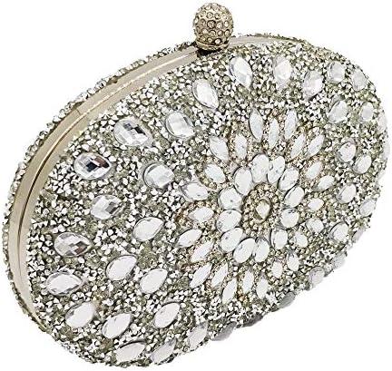 熱硬化性クリスタルイブニングバッグハンドバッグ、デザイナーファッションウェディングパーティーメタルダイヤモンドクラッチ、財布、古典的な優雅さ 美しいファッション