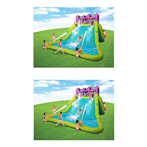 - Kahuna Mega Blast Inflatable Backyard Kiddie Pool and Slide Water Park (2 Pack)