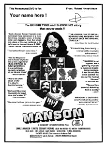 """The original 1973 MANSON documentary, now on DVD and signed by the filmmaker Robert Hendrickson- EXCLUSIVE NEWS: New MANSON Book """"Death to Pigs"""" Now for sale on AMAZON"""