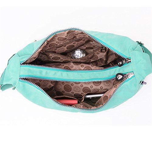 Messenger TianHengYi Bag Style Lightweight Simple Nylon Bag Green Women's Cross Dumpling body Shoulder Shape PPqf6wvr