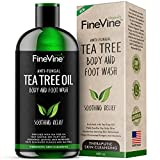 100% Natural Tea Tree Body Wash| Organic Tea Tree Oil Body Wash Made in USA| Cleansing Body Wash Fights off Jock Itch & Nail Fungus| Antifungal Body Wash Treats Athletes Foot, Ec-zema, Ring Worm, Odor (16 Fl. Oz (Pack of 1))