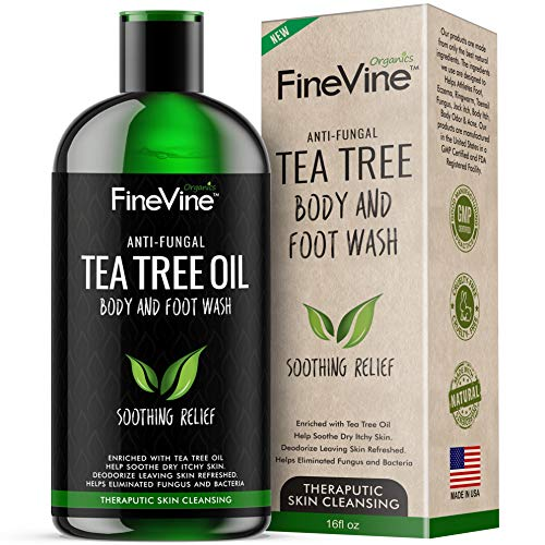 100% Natural Tea Tree Body Wash| Organic Tea Tree Oil Body Wash Made in USA| Cleansing Body Wash Fights off...