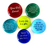 Encouragement Glass Stones, Set of 6