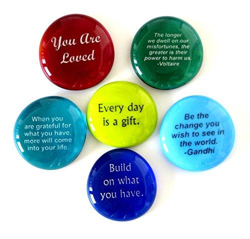 Encouragement Glass Stones, Set of 6