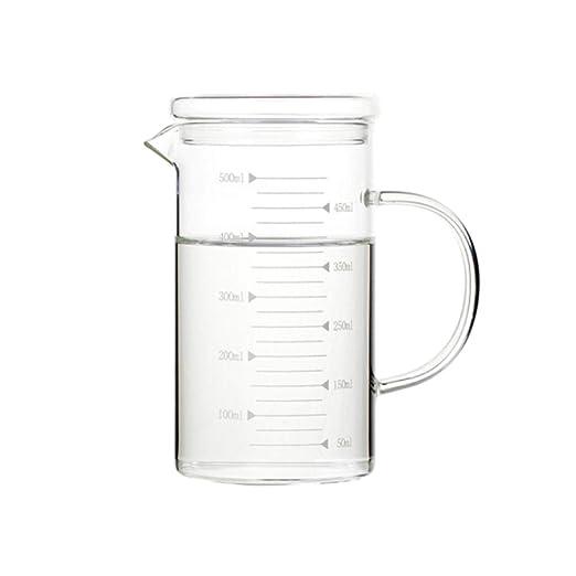 YXIAOn Vaso de vidrio resistente al calor Vaso, con taza de ...